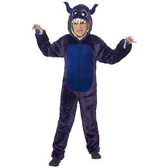 Kinder kostuums paarse monster kostuum deluxe