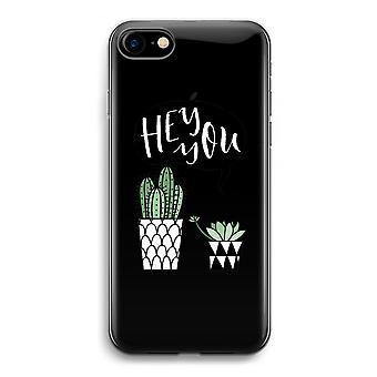 iPhone 7 transparente Fall (weich) - Hey du Kaktus