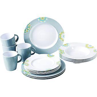 Sandhya Patterned 16 Piece Dinner Set