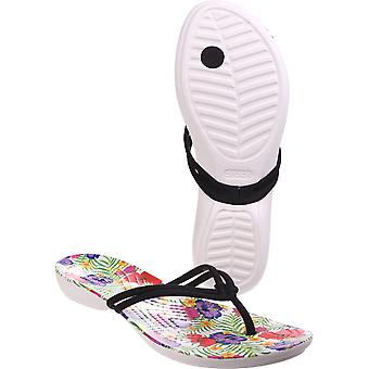 Crocs Womens/Ladies Isabella Graphic Flip Flop Light Croslite Shoes