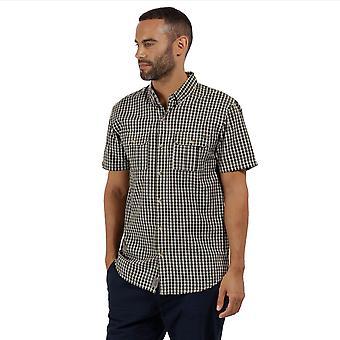 Regatta Mens Rainor Coolweave katoen knop ingedrukt Contrast Casual Shirt