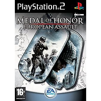 Medal of Honor Europeiska Assault (PS2) - Ny fabrik förseglad