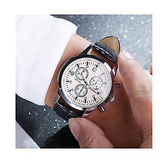 Luxury Silver Black Chrono Watch Time Elegant Business