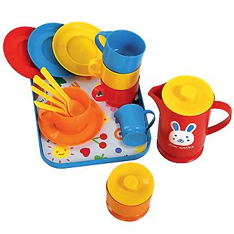 Gowi Toys Coffee Service Set (Blue - 18 Pieces) Pretend Role Play Set Children