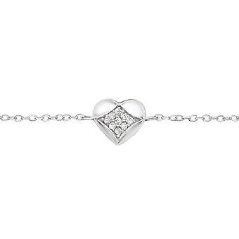 Heart - 925 Sterling Silver Chain Bracelets - W35078X