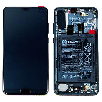 Huawei display LCD unit + new frame for P20 Pro Service Pack 02351WTU blue / twilight