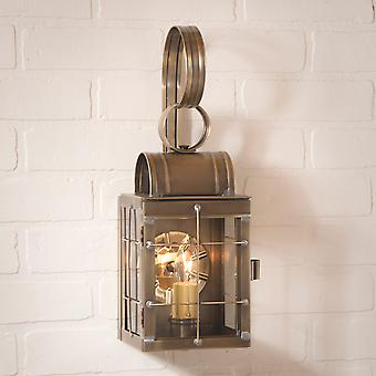 Irvin's Country Tinware Single Wall Lantern in Weathered Brass
