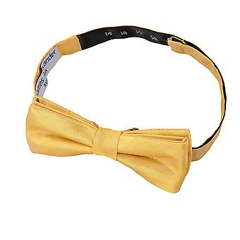 Primrose Yellow Herringbone Silk Batwing Pre-Tied Bow Tie