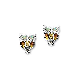Sterling Silver Traditional Nature In Flight Design Pair of Earrings - ESE27