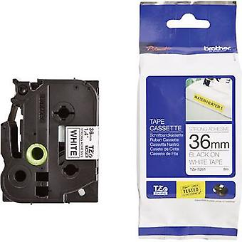 Etichettatura nastro (adesivo extra forte) Brother TZe, colore nastro TZe-S261 TZ: bianco Font colore: nero 36 mm 8 m