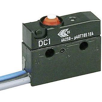 ZF Microswitch DC1C-C3AA 250 V AC 6 A 1 x On/(On) IP67 momentary 1 pc(s)