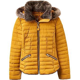 Pelliccia collo cappotto imbottito di Joule Womens Gosling
