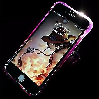 Mobile Shell LED Licht Bel voor mobiele Samsung Galaxy S7 edge violet