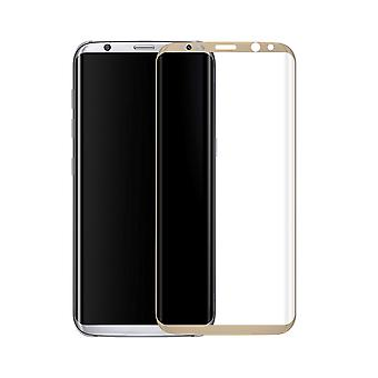 Samsung Galaxy S8 3D armoured glass foil display 9 H protective film covers case gold