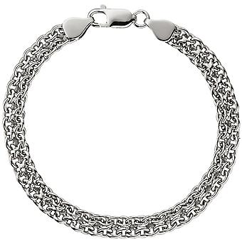 Bangle Bracelet 925 sterling silver rhodium plated 19 cm bracelet silver carabiner