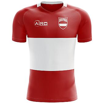 2020-2021 Austria Flag Concept Football Shirt (Kids)