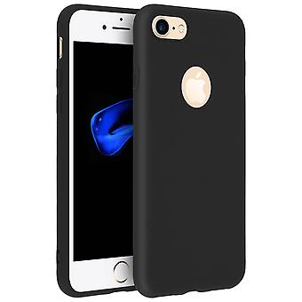 Forcell case for iPhone 7, iPhone 8, soft touch cover, silicone TPU case - Black