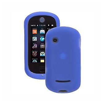 Wireless Solutions - Silicon Gel Case for Motorola QA4 Halo Evoke Cell Phones - Blue