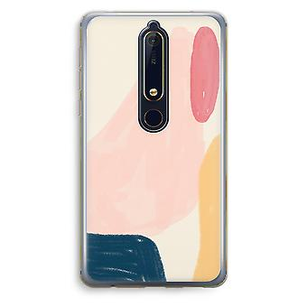 Nokia 6 (2018) caso transparente (Soft) - fluxo de sábado