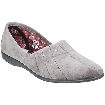 GBS Womens Audrey Stretchy Cushioned Slip On Slippers