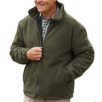 Kampioen Heren Glen Country Estate Quilt Gevoerde Fleece Jas S Olijf