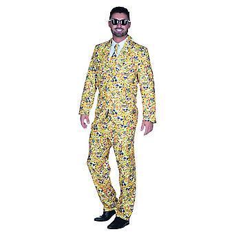 Emoji Dress gule herrer JGA Carnival sirkus bryllup klovn