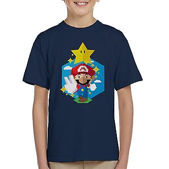 Aqui vamos t-shirt do Super Mario filho