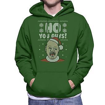 Ho You Guys Sloth Goonies Christmas Knit Pattern Men's Hooded Sweatshirt