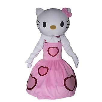 SPOTSOUND of Hello Kitty mascot, dressed in a dress pink