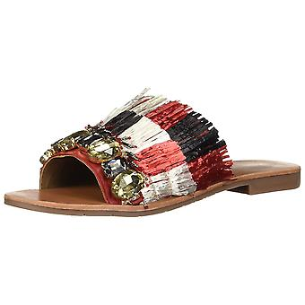Kenneth Cole New York Women's Heron Slide Sandal with Fringe and Jewels