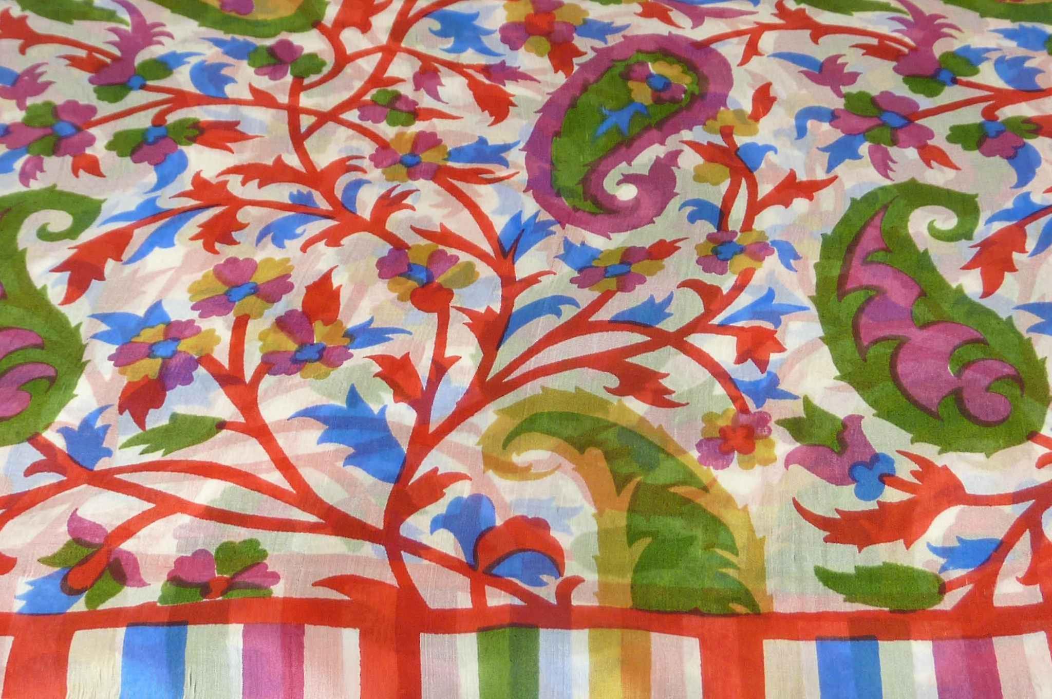 Mulberry Silk Contemporary Long Scarf Mooli Scarlet by Pashmina & Silk