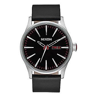 Nixon analog quartz watch with leather band _ A105000-00