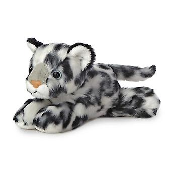 Aurora Mini Flopsies - Snow Leopard Soft Toy 20cm