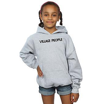 Obec ľudia dievčatá text logo Hoodie