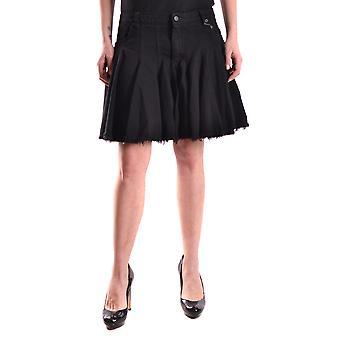 Mcq By Alexander Mcqueen Black Cotton Skirt