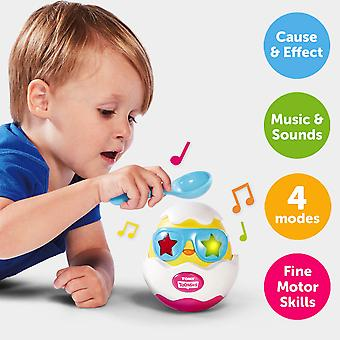 TOMY Toomies Beat It Egg Lights and Sounds Musical Chick in Egg Toy