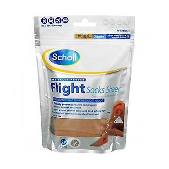 Scholl Flight Socks Sheer 4-6 2 Pairs