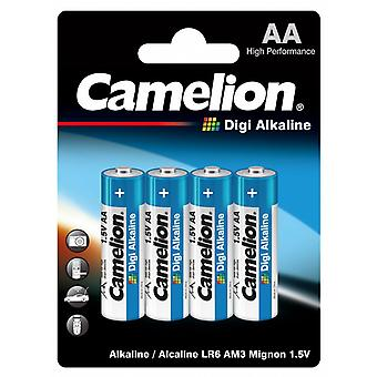 Battery AA 4-pack, LR6 Camelion Digi Alkaline Batteries