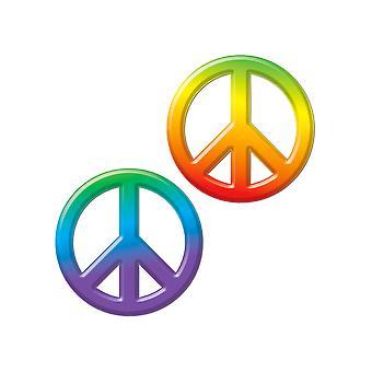 Plastic Peace Signs