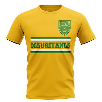 Mauritania Core Football Country T-Shirt (giallo)