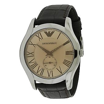 Emporio Armani XX en cuir Croco brun Mens Watch AR1704