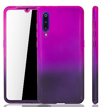 Xiaomi Mi 9 Phone Case Protection Case Cover Tank Protection Glass Pink / Purple