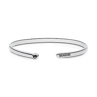 Oregon State University Engraved Sterling Silver Black Onyx Cuff Bracelet