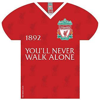 Liverpool FC vous ne marchez jamais seul Shirt Shaped Sign