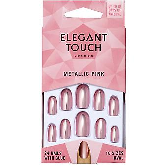 Elegant Touch Coloured Nails Collection - Rose métallisé (24 clous)