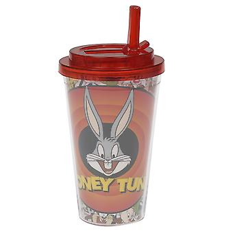 Cold Cup - Looney Toons - Bullseye Bugs Bunny w / Flip Stroh 16oz 37819