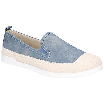 Fleet & Foster Womens Paradise Nautical Espadrille Loafer Denim