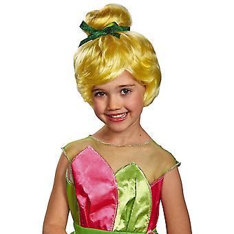Tinker Bell Tinkerbell fadas Disney fadas loira Bun meninas peruca traje