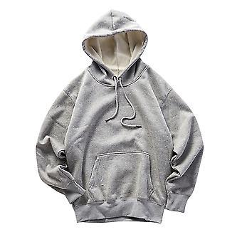 Alle Themen Men's Hoodies dick warm Herbst solide Kapuzen Sweatshirt