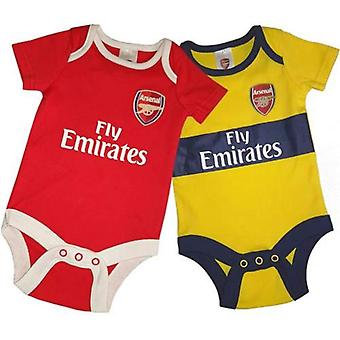 Arsenal FC Baby Kit 2 Pack bodysuits | 2019/20 temporada